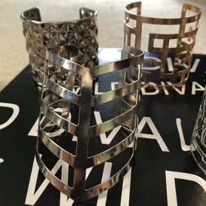 Jewelry - Set of 5 Gold & Silver Cuff Bracelets